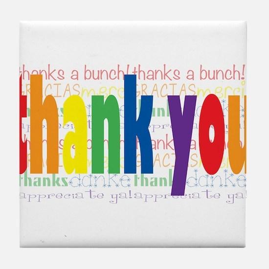 Thank You Greeting Card Tile Coaster
