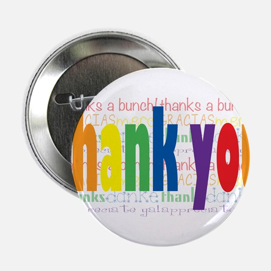 """Thank You Greeting Card 2.25"""" Button"""