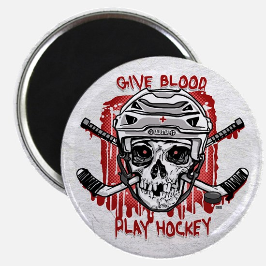 Give Blood Hockey White Magnet