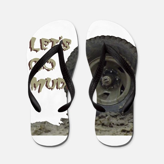 Mountain Mudd Dawgs logo Flip Flops