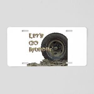 Mountain Mudd Dawgs logo Aluminum License Plate