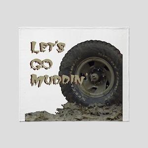 Mountain Mudd Dawgs logo Throw Blanket
