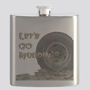 Mountain Mudd Dawgs logo Flask