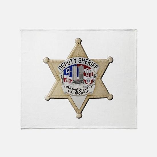 Orange County Sheriff 9-11 Throw Blanket