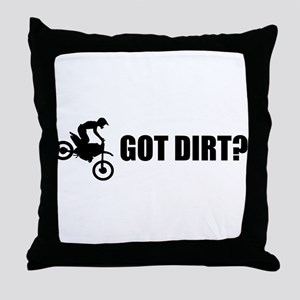 Got Dirt Bike Design Throw Pillow