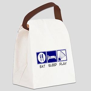 Eat, Sleep, Play Badminton Canvas Lunch Bag