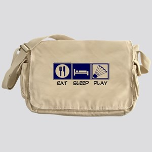 Eat, Sleep, Play Badminton Messenger Bag