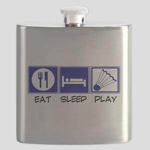 Eat, Sleep, Play Badminton Flask