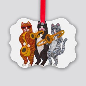 Cat Brass Section Ornament