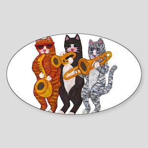 Cat Brass Section Sticker