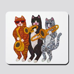 Cat Brass Section Mousepad