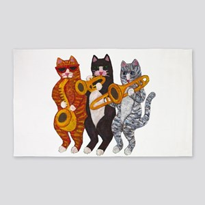 Cat Brass Section 3'x5' Area Rug