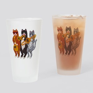 Cat Brass Section Drinking Glass