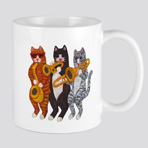 Cat Brass Section Mug