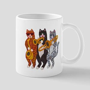 Cat Brass Section Mug