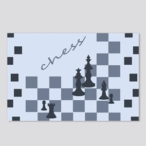 Chess King and Pieces Postcards (Package of 8)