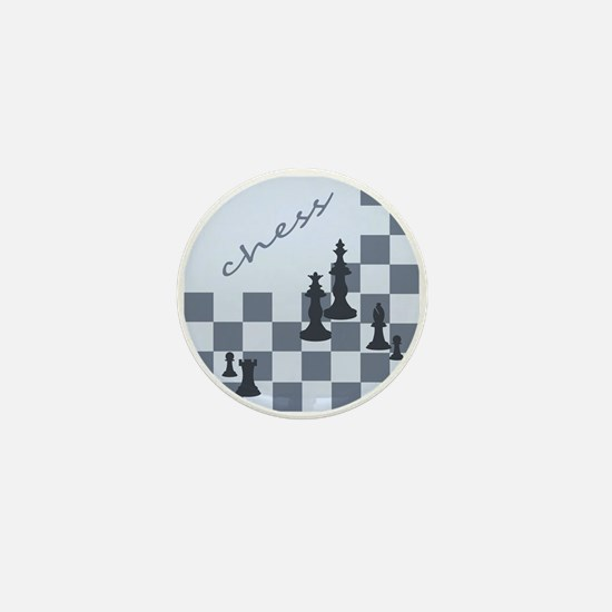 Chess King and Pieces Mini Button