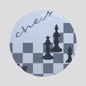 Chess King and Pieces Ornament (Round)