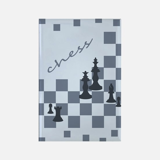 Chess King and Pieces Rectangle Magnet (10 pack)