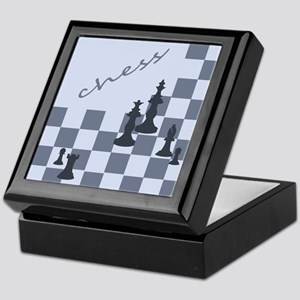 Chess King Pieces Keepsake Box