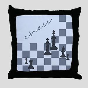 Chess King Pieces Throw Pillow