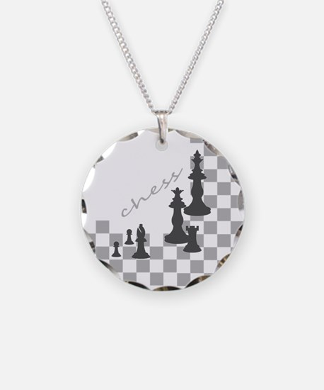 Chess King and Pieces Necklace