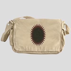 Starburst Brown Messenger Bag