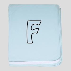 Outline Monogram F baby blanket