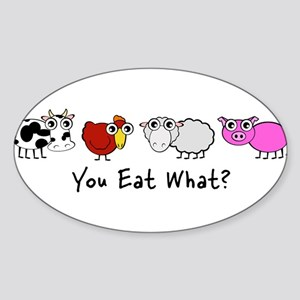YOU EAT WHAT? Rectangle Sticker