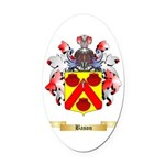 Bason Oval Car Magnet