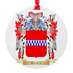 Baskin Round Ornament