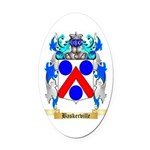 Baskerville Oval Car Magnet