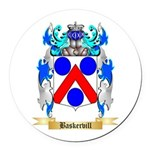 Baskervill Round Car Magnet