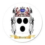 Baselio Round Car Magnet