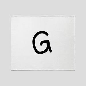 Bookworm Monogram G Throw Blanket