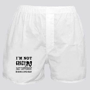I'm not Crazy just different Rugby Boxer Shorts