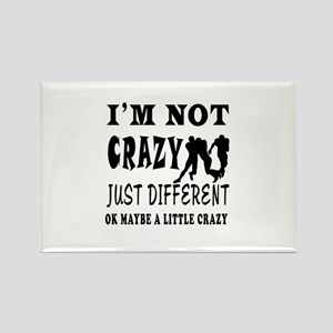 I'm not Crazy just different Rugby Rectangle Magne