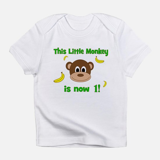 This Little Monkey is Now 1! with Bananas Infant T