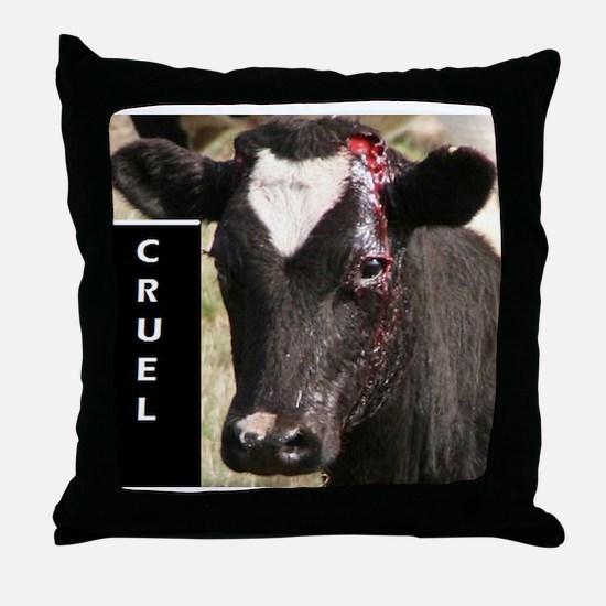 Dehorning is Cruel Throw Pillow