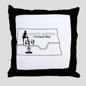 Frack Girl Throw Pillow