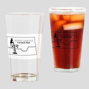 Frack Girl Drinking Glass