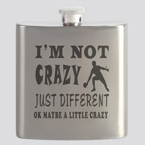 I'm not Crazy just different Table Tennis Flask