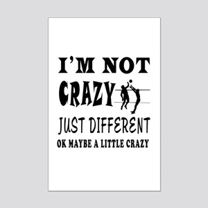 I'm not Crazy just different Volleyball Mini Poste