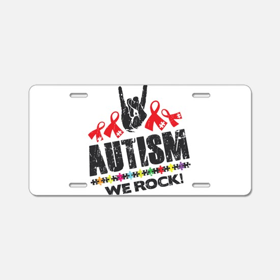 We rock Aluminum License Plate