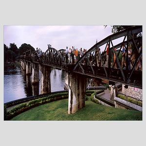 Tourists on a bridge, Kwai River, Kanchanaburi Pro
