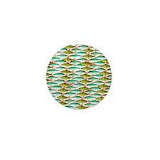 School of Tropical Amazon Fish 1 Mini Button