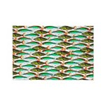 School of Tropical Amazon Fish 1 Rectangle Magnet