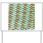 School of Tropical Amazon Fish 1 Yard Sign