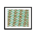 School of Tropical Amazon Fish 1 Framed Panel Prin