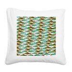 School of Tropical Amazon Fish 1 Square Canvas Pil
